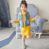 全館85折女童春裝套裝2019新款韓版潮衣兒童大學T連身裙兩件套春款時髦洋氣 芥末原創