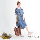 樹枝圖騰棉麻連身裙(3色)-F【慢。生活...
