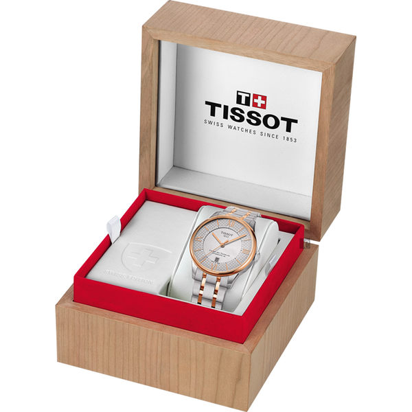 TISSOT天梭 杜魯爾系列80小時動力儲存機械女錶-珍珠貝/32mm T0992072211801