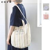 帆布包 大托特包 直條紋 日本品牌【coen】
