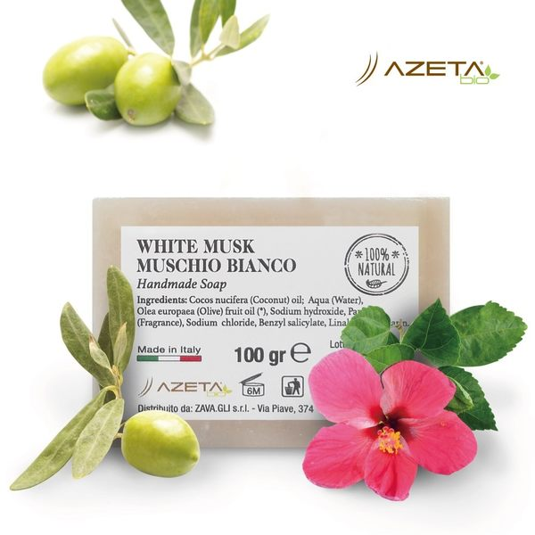 Azeta 艾莉塔嬰兒手工香皂(白麝香) 100g F-AZT-1206-00-FF