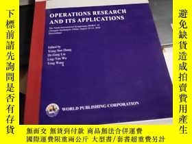 二手書博民逛書店operations罕見research and its app
