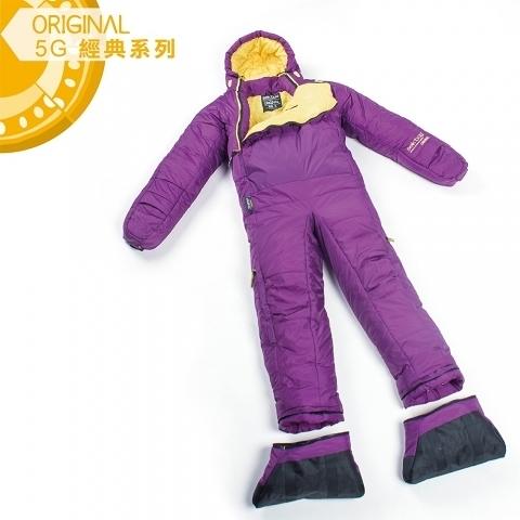 Selk'bag Original 5G人形纖維睡袋 - 基本款『朦朧紫』戶外 登山 露營 SBOR5PH