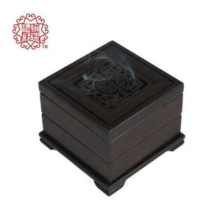紅木香爐 紫光檀 高檔四方香 黑檀烏木香道用品