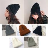 純色簡約風格針織男女帽-成人毛線帽保暖 秋冬套頭帽子 韓風時尚 男女適用 88044