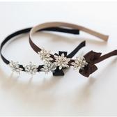 UNICO 韓版緞帶蝴蝶結雪花造型髮箍