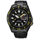 SEIKO精工錶 Mechanical深海潛鋒200米機械腕錶IP黑/黃4R36-02Z0SD SRP499J1