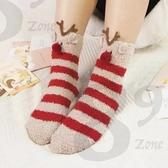 女襪 89 zone 法式毛巾質感毛茸茸卡通保暖地板襪 1144300005