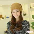 韓版潮蕾絲款頭巾帽子女士月子帽薄款中年包頭帽堆堆帽春夏季睡帽 店慶降價