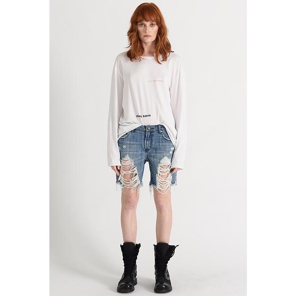 OneTeaspoon 牛仔短褲 STEVIES LOW WAIST RELAXED BOYFRIEND SHORT-藍(女)