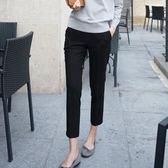 西裝長褲 蘿卜褲小闊腿褲西裝褲職業裝大碼休閒褲寬鬆顯瘦女裝長褲  poly girl