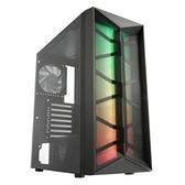 FSP 全漢 CMT211B ATX ARGB 內裝風扇*4 全鐵網 玻璃透侧 黑色 機殼