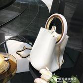 包包女新款韓版百搭走秀款水桶包圓環手拎包手提菜籃子包 多莉絲旗艦店