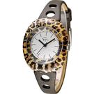 Epico 橢圓系列復古豹紋腕錶 EP-3LPBRL