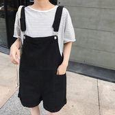韓版寬鬆顯瘦復古港味吊帶褲