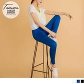 《KS0586》台灣製造收腹織帶拼接吸濕排汗運動九分褲/瑜伽褲 OrangeBear