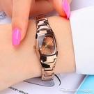 手錶女學生韓版簡約時尚潮流女士手錶防水鎢鋼色石英女錶腕錶 阿卡娜