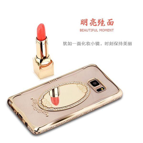 【SHENGO】夢莎系列鑲鑽鏡子透明軟殼 Samsung Galaxy Note 7 N930FD