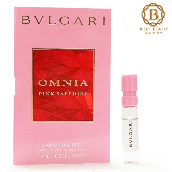 BVLGARI 寶格麗 OMNIA 粉晶女性淡香水 1.5ml 針管 29246《Belle倍莉小舖》