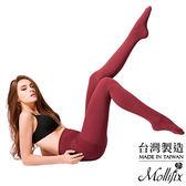 Mollifix瑪莉菲絲 恆溫美型奈米刷毛鉛筆襪(赤赭紅)