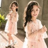 兒童短袖洋裝 兒童裝 裝女童超洋氣公主裙夏季紗裙子小女孩禮服短袖洋裝 限時8折