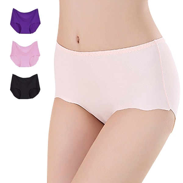 冰絲內褲 超彈力中腰三角褲 大尺寸無痕內褲 孕婦內褲-JoyBaby