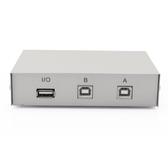 切换器 USB共享器2口打印機切換器轉換器兩臺電腦共用鍵盤鼠標掃描儀2進1 萬寶屋