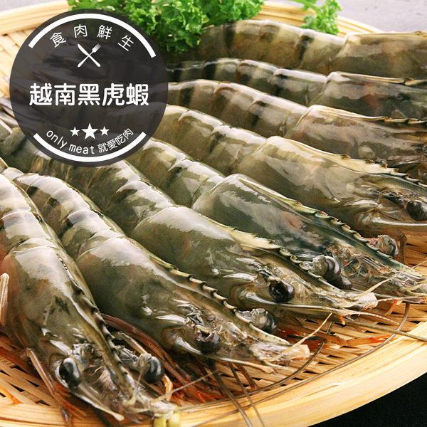越南黑虎蝦(巨大草蝦)(400g±10%/盒)(8尾)(食肉鮮生)
