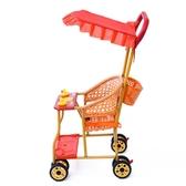 夏季寶寶仿藤編手推車輕便簡易萬向輪嬰兒竹藤坐式透氣兒童小推車