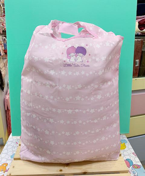 【震撼精品百貨】Little Twin Stars KiKi&LaLa_雙子星小天使~三麗鷗環保收納袋(可摺疊)-粉#86395