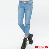 BOBSON 女款低腰彈力小直筒八分褲(235-58)