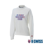 K-SWISS Round Sweat Shirts 圓領長袖上衣-女-白