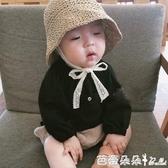 ins爆款夏款兒童草帽韓國寶寶遮陽帽防曬帽沙灘蕾絲漁夫帽子親子-芭蕾朵朵