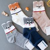 韓國 柴犬狗狗造型襪 襪子 短襪 造型襪 中筒襪 流行襪 狗狗襪子