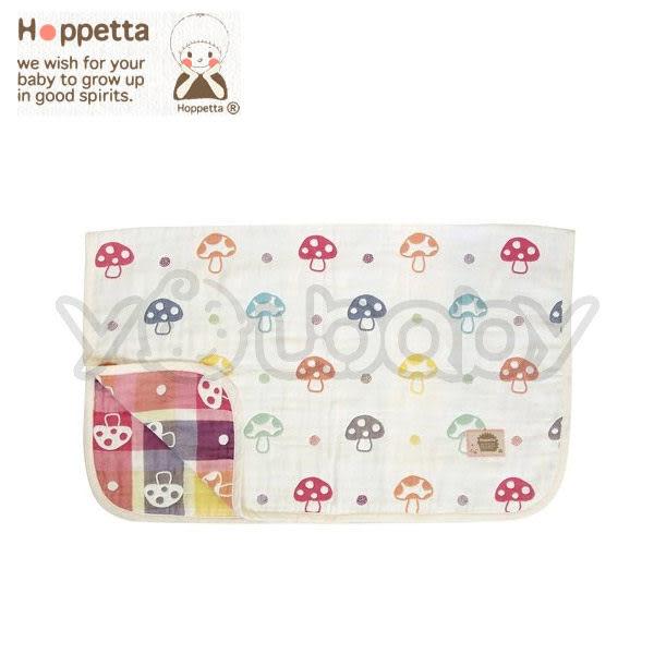 日本 Hoppetta 六層紗蘑菇被/攜帶毯(M)