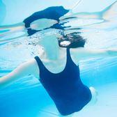 泳衣溫泉遮肚泳連體衣女顯瘦復古泡溫泉游泳衣【不二雜貨】