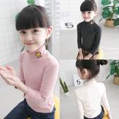 女童打底衫內搭小女孩長袖T恤衫兒童上衣春秋新款半高領寶寶秋衣