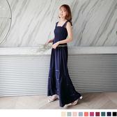OB嚴選《DE254-》浪漫渡假~嚴選性感蕾絲肩帶連身長洋裝‧10色--適 S~L