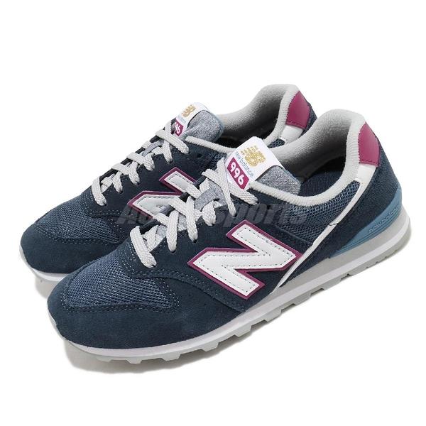 New Balance 休閒鞋 NB 996 藍 紫 女鞋 麂皮 復古慢跑鞋 運動鞋 【ACS】 WL996WAB