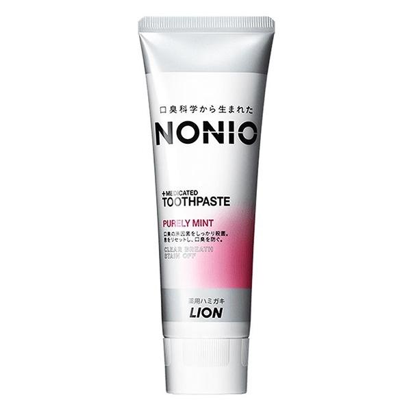 日本獅王LION NONIO終結口氣牙膏 130g 甜梨玫瑰 (有效期限2022.3) *維康*