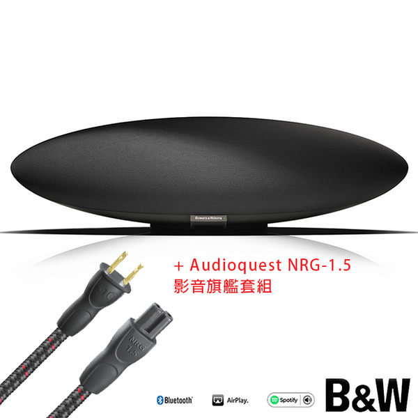 【A Shop】Bowers & Wilkins New Zeppelin Wireless +Audioquest NRG-1.5 8字電源線影音旗艦套組