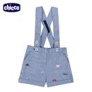chicco-快樂賽車手-直條紋活動吊帶短褲