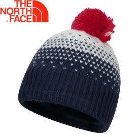 【The North Face 兒童 編織保暖帽 宇宙藍】2T6T/兒童帽/保暖帽/編織帽/毛帽★滿額送