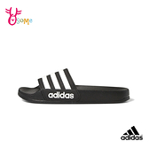 adidas拖鞋 兒童拖鞋 男女童 防水快乾拖鞋 運動拖鞋 室內室外拖鞋 女鞋可穿 ADILETTE S9357#黑色◆奧森