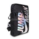 Nike 包包 Jumpman 男女款 黑 炫彩 外出 輕便 方腰包 肩背包 小包 喬丹【ACS】 JD2133007GS-004