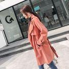 大韓訂製薄外套收腰中長款風衣薄長上衣大碼氣質女裝