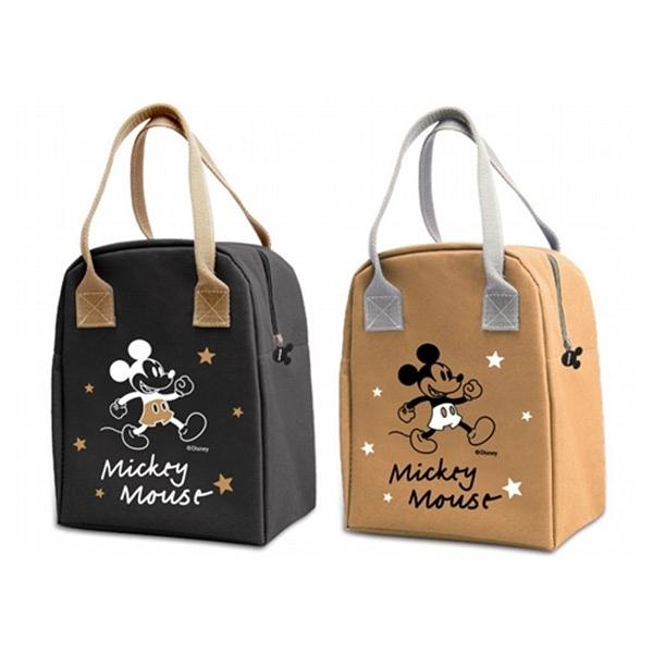Disney 迪士尼 經典米奇手提大保溫袋(1入) 酷黑/奶茶 款式可選【小三美日】