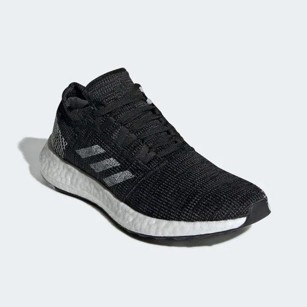 Adidas PUREBOOST GO 女鞋 慢跑 休閒 襪套 輕量 避震 透氣 黑 白【運動世界】 B75822