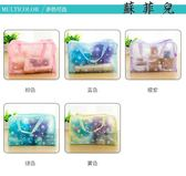韓國時尚防水透明網袋收納化妝包