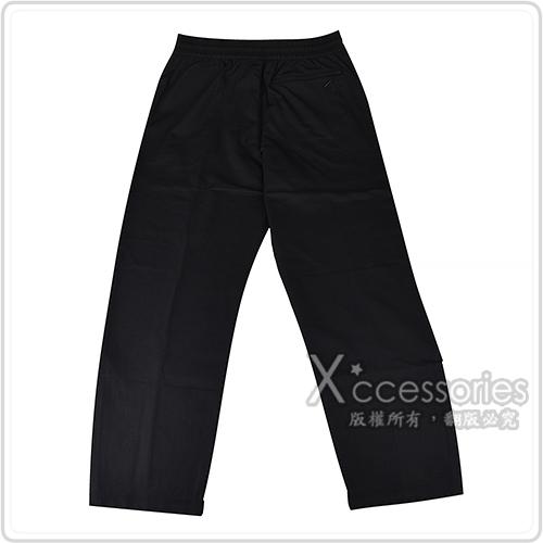 Y-3 字母LOGO經典直筒尼龍運動長褲(黑)